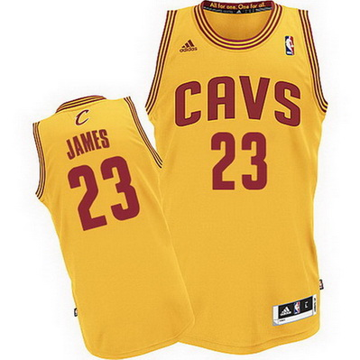 canotta lebron james 23 cleveland cavaliers rev30 giallo
