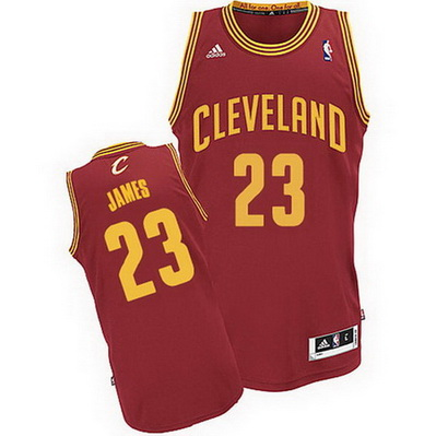 canotta basket lebron james 23 cleveland cavaliers rev30 rosso