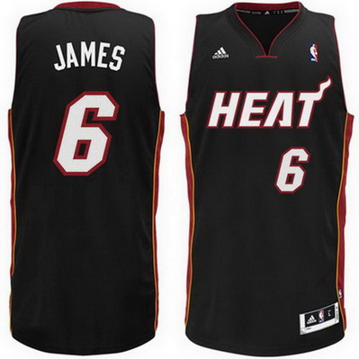 maglia nba lebron james 6 miami heat rev30 nero