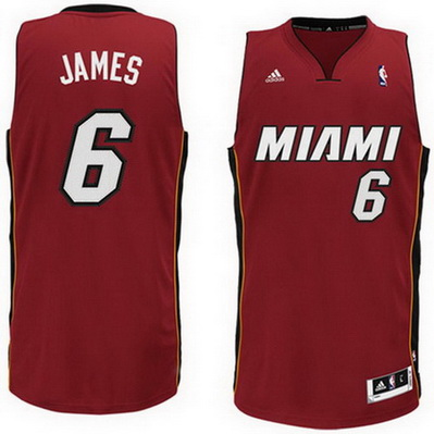canotta lebron james 6 miami heat rev30 rosso