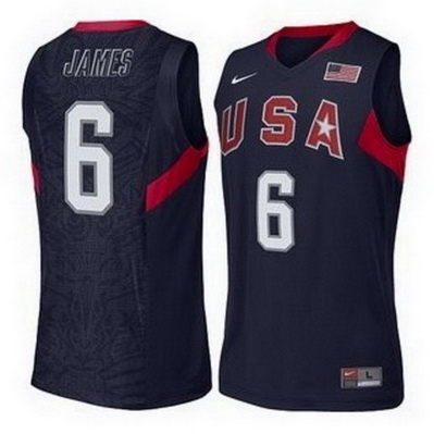 canotte uomo lebron james 6 nba usa 2008 blu