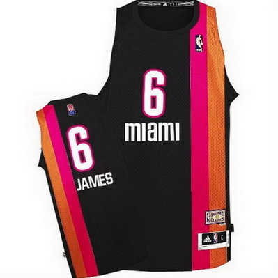 canotta nba lebron james 6 retro miami heat nero
