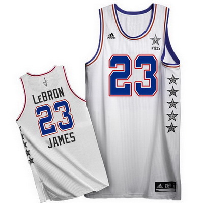 maglie basket lebron james nba all star 2015 bianca