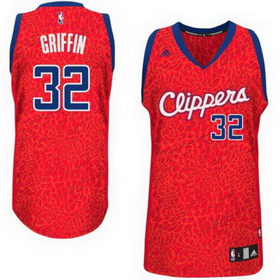 canotte uomo los angeles clippers leopard blake griffin 32 rosso