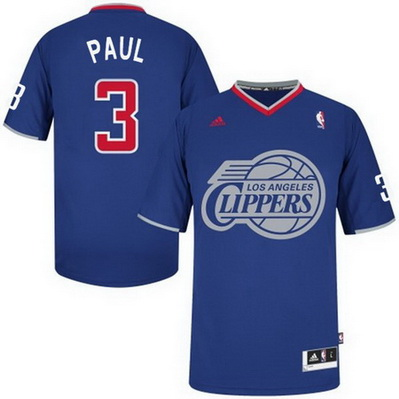maglia uomo los angeles clippers natale 2013 chris paul 3 blu