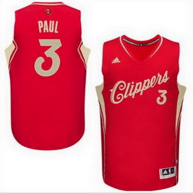 maglia basket los angeles clippers natale 2015 chris paul 3 rosso