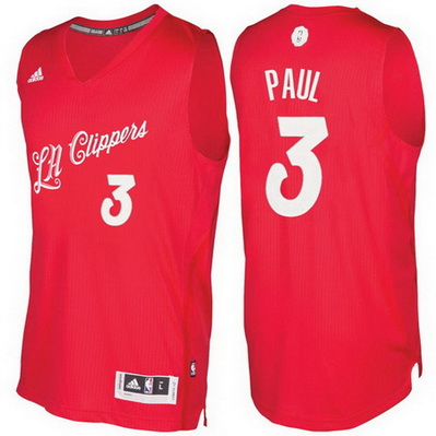 maglie basket los angeles clippers natale 2016 chris paul 3 rosso