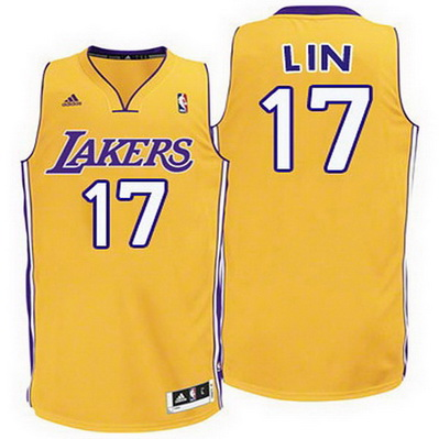 canotta los angeles lakers bambino jeremy lin 17 giallo