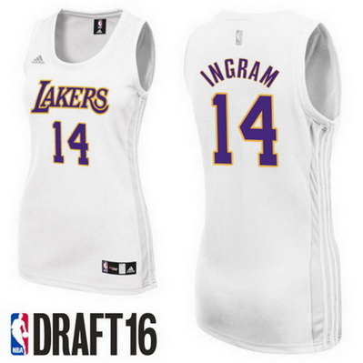 maglie basketa donne los angeles lakers brandon ingram 14 bianca