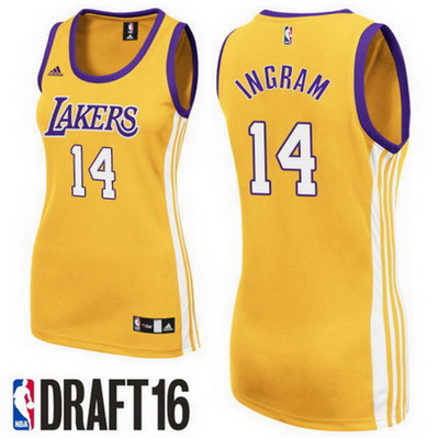 maglie nba donne los angeles lakers brandon ingram 14 giallo