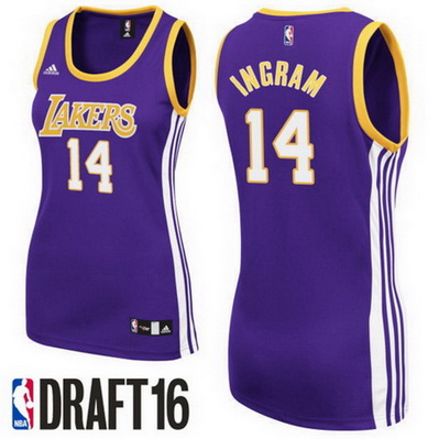 canotte nba donne los angeles lakers brandon ingram 14 porpora