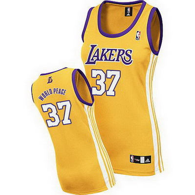 canotta basket donna los angeles lakers metta world peace 37 giallo