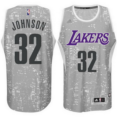 canotte basket los angeles lakers earvin johnson 32 lights grigio