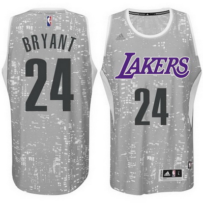 canotte uomo los angeles lakers kobe bryant 24 lights grigio