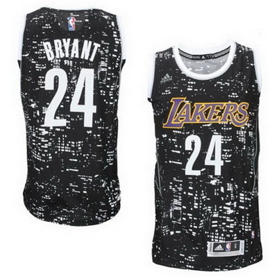maglie basket los angeles lakers kobe bryant 24 lights nero