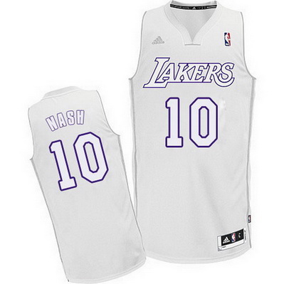 canotte uomo los angeles lakers natale 2012 steve nash 10 bianca