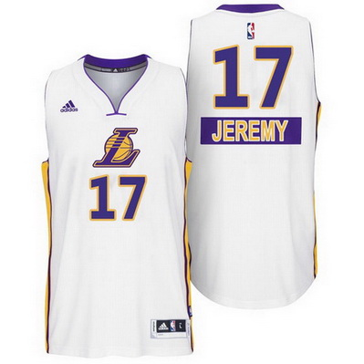 canotte uomo los angeles lakers natale 2014 jeremy lin 17 bianca