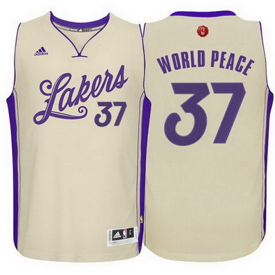 maglie los angeles lakers natale 2015 metta world peace 37 giallo