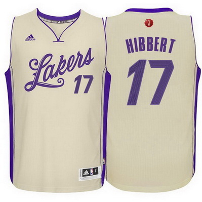 canotta uomo los angeles lakers natale 2015 roy hibbert 17 giallo