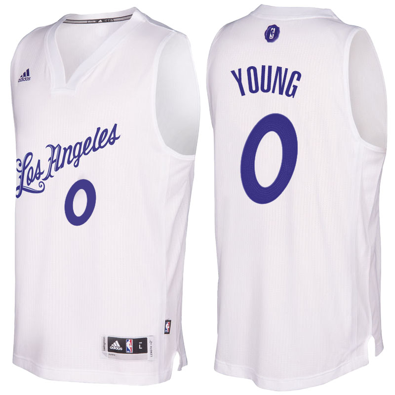 canotta basket Nick Young 0 2016 los angeles lakers bianca
