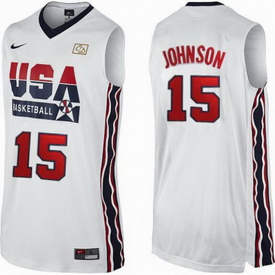 canotta basket magic johnson 15 nba usa 1992 bianca