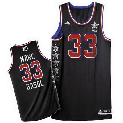 maglie uomo basket marc gasol 33 nba all star 2015 nero