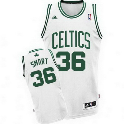 maglia basket marcus smart 36 boston celtics bianca