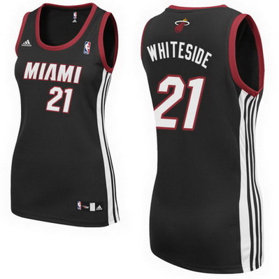 maglie basketa donne miami heat hassan whiteside 21 nero