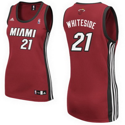 canotte nba donne miami heat hassan whiteside 21 rosso