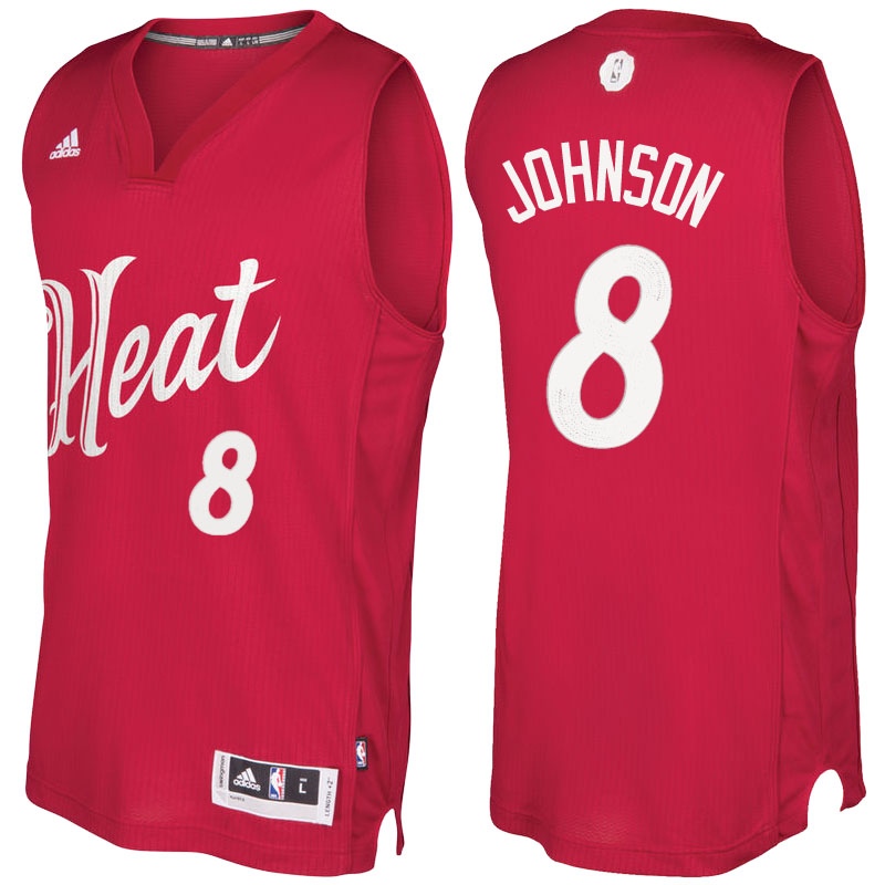 Maglie Basket Miami Heat Natale 2016 Tyler Johnson 8 Rosso