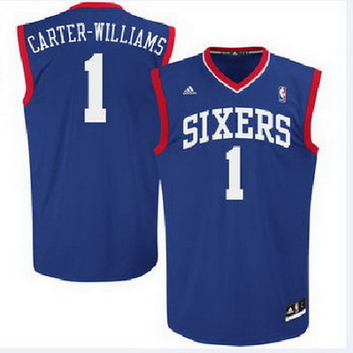 maglia basket michael carter-williams 1 philadelphia 76ers blu