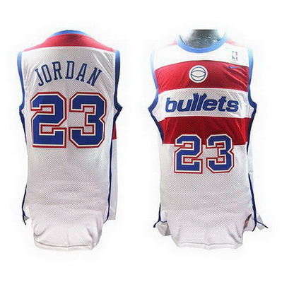 maglia michael jordan 23 retro washington wizards bianca