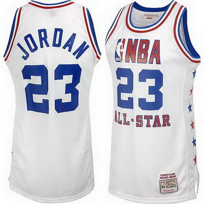 canotta basket michael jordan nba all star 2003 bianca