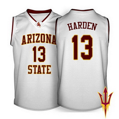 canotte uomo ncaa arizona state james harden 13 bianca