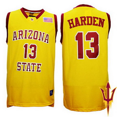 canotte basket ncaa arizona state james harden 13 giallo