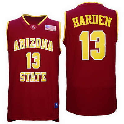 maglie basket ncaa arizona state james harden 13 rosso