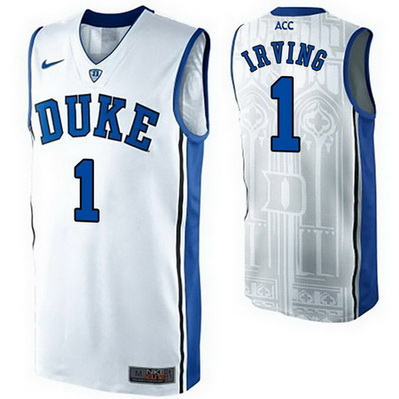 maglie basket ncaa duke university kyrie irving 1 bianca