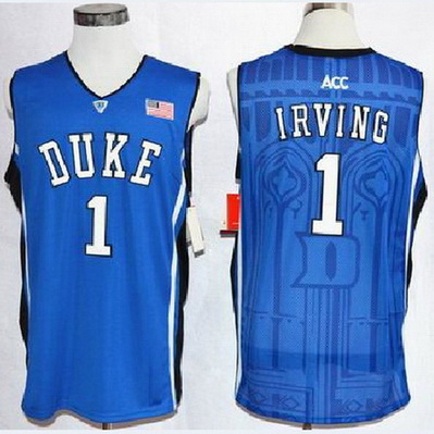 canotte uomo ncaa duke university kyrie irving 1 blu