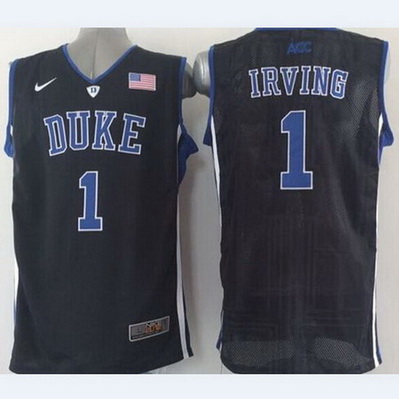 maglie uomo basket ncaa duke university kyrie irving 1 nero