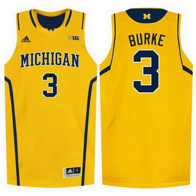 canotte basket ncaa michigan wolverines trey burke 3 giallo
