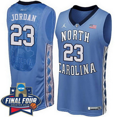 canotta basket ncaa north carolina tar heels michael jordan 23 blu