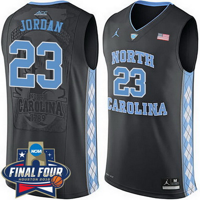 canotte basket ncaa north carolina tar heels michael jordan 23 nero
