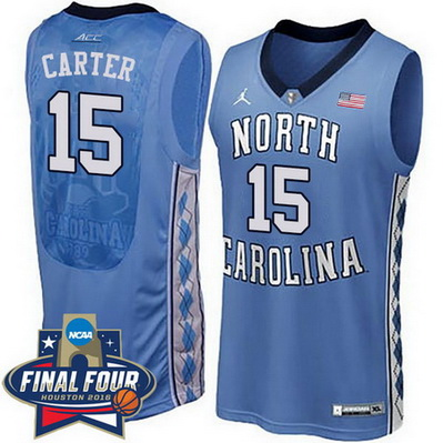 maglie uomo ncaa north carolina tar heels vince carter 15 blu