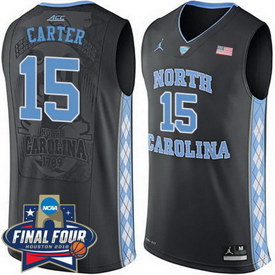 maglia basket ncaa north carolina tar heels vince carter 15 nero