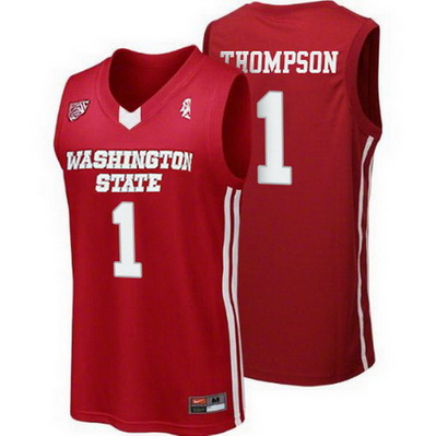 maglie uomo ncaa washington state cougars klay thompson 1 rosso