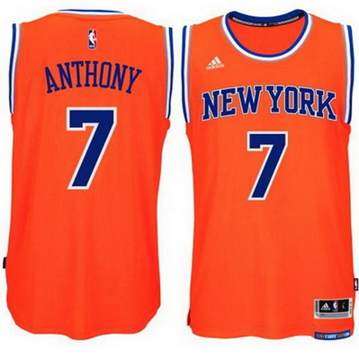 canotta basket new york knicks bambino carmelo anthony 7 arancia