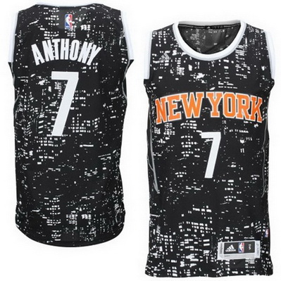 canotta basket new york knicks carmelo anthony 7 lights nero