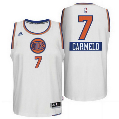 maglie uomo new york knicks natale 2014 carmelo anthony 7 bianca
