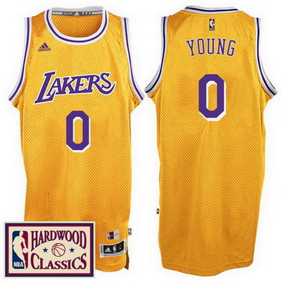 canotta nick young 0 2016-2017 los angeles lakers giallo