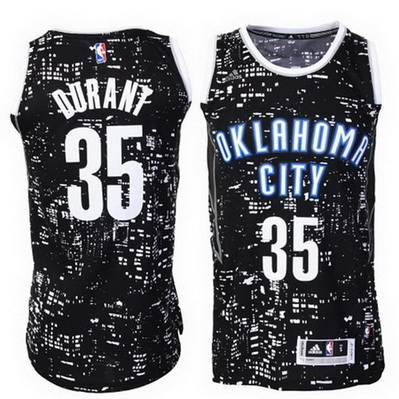 canotte basket oklahoma city thunder kevin durant 35 lights nero